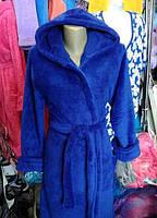 Женский халат с капюшоном Большого размера