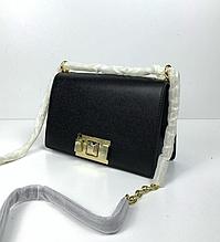 Сумка в стиле Фурла небольшой размер ! новая колекция / натуральная кожа (0157-S) Черный