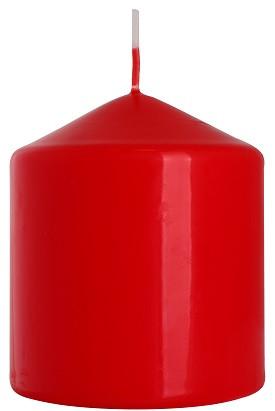 Свеча цилиндр красная Bispol 9 см (sw80/90-030)