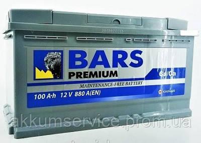 Акумулятор автомобільний Bars Premium 100AH R+ 880A