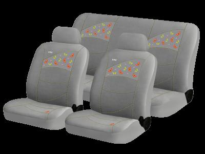 h&r hadar rosen Чехлы для автомобильных сидений Hadar Rosen BUTTERFLIES, Серый 10227 1433