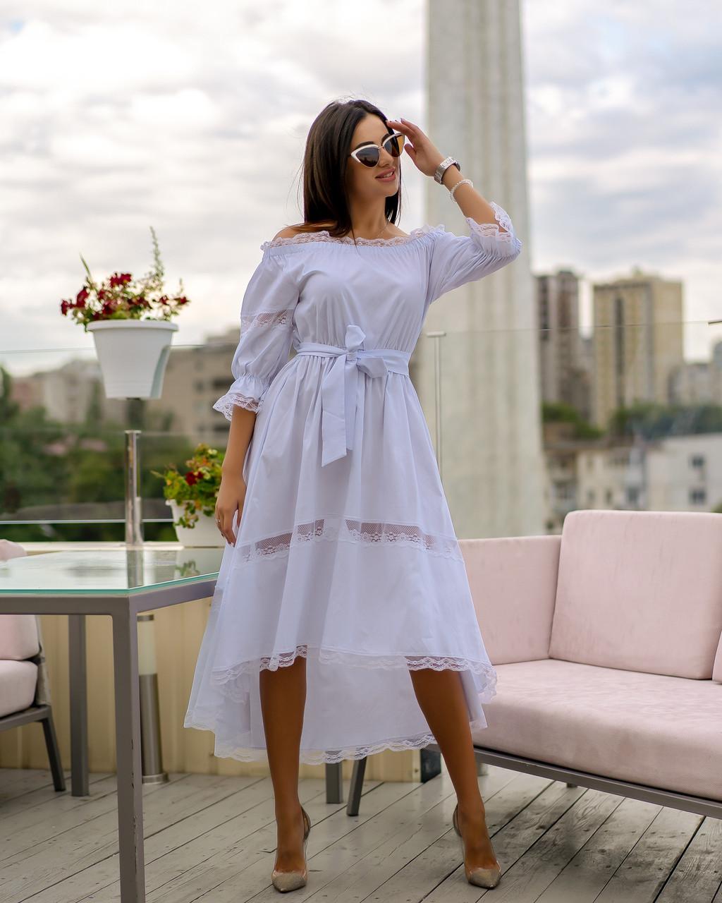 Платье летнее асимметрия Белый