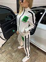 Спортивный костюм женский Белый двунитка весна-осень, фото 4