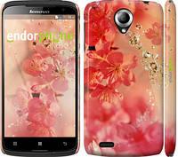 "Чехол на Lenovo S820 Розовые цветы ""2461c-52"""