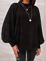 Шикарная блуза с пышными рукавами Белый, Персик, Черный, фото 4