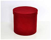 Бархатная круглая коробка d=16 h=20 см оптом, фото 1