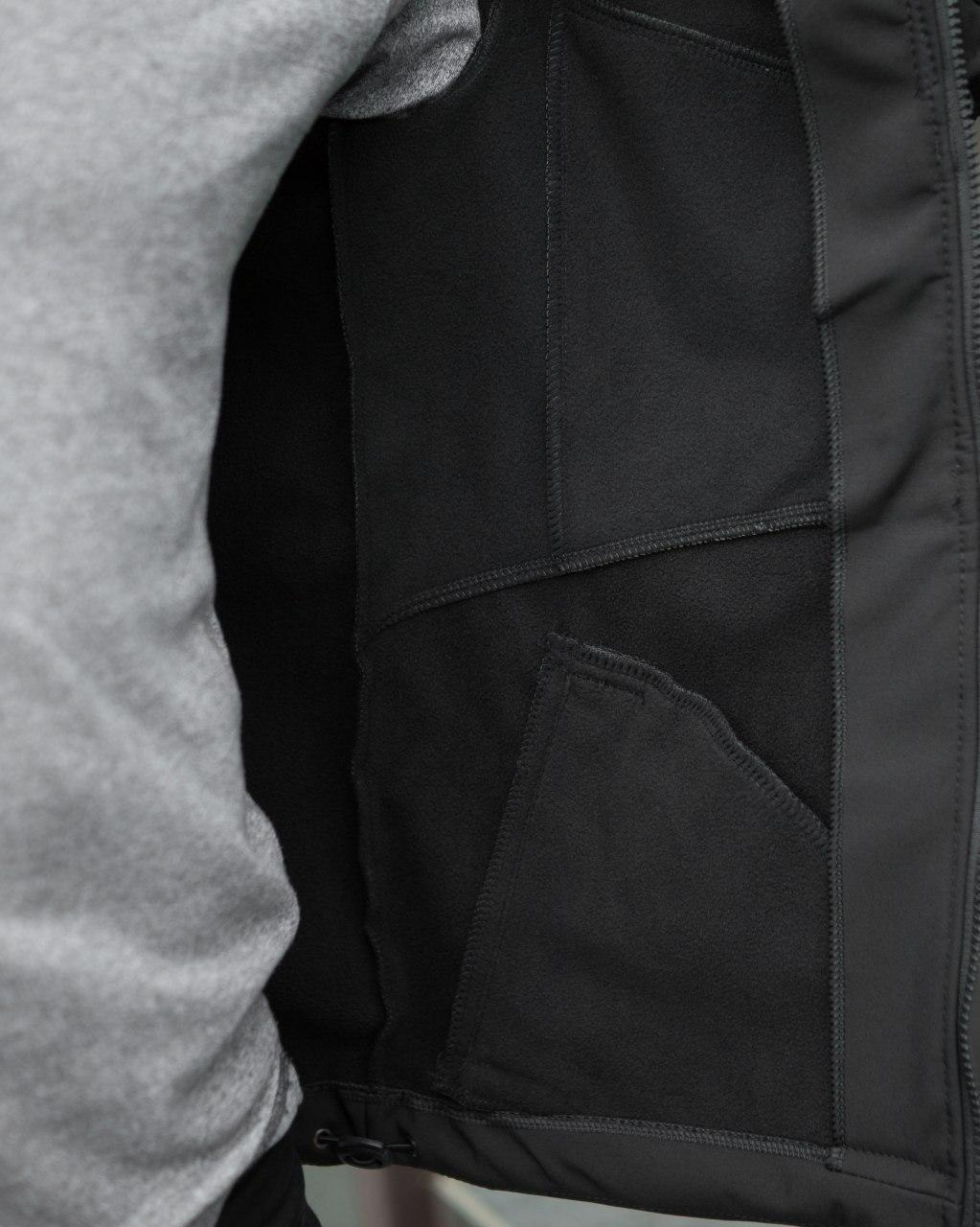"🔥 Куртка ветровка бомбер мужская мужской Pobedov Soft Shell Jacket ""Klon"" черная хаки"