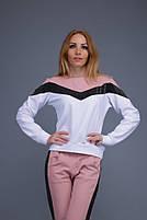 Спортивный костюм турецкая двунитка со вставками из люрекса Пудра, фото 4