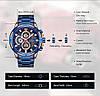 Мужские наручные часы Naviforce Golden Gate NF9165M Водостойкие Blue, фото 7