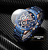 Мужские наручные часы Naviforce Golden Gate NF9165M Водостойкие Blue, фото 8