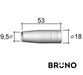 145.0123 Газове сопло D 9,5/18/53 мм