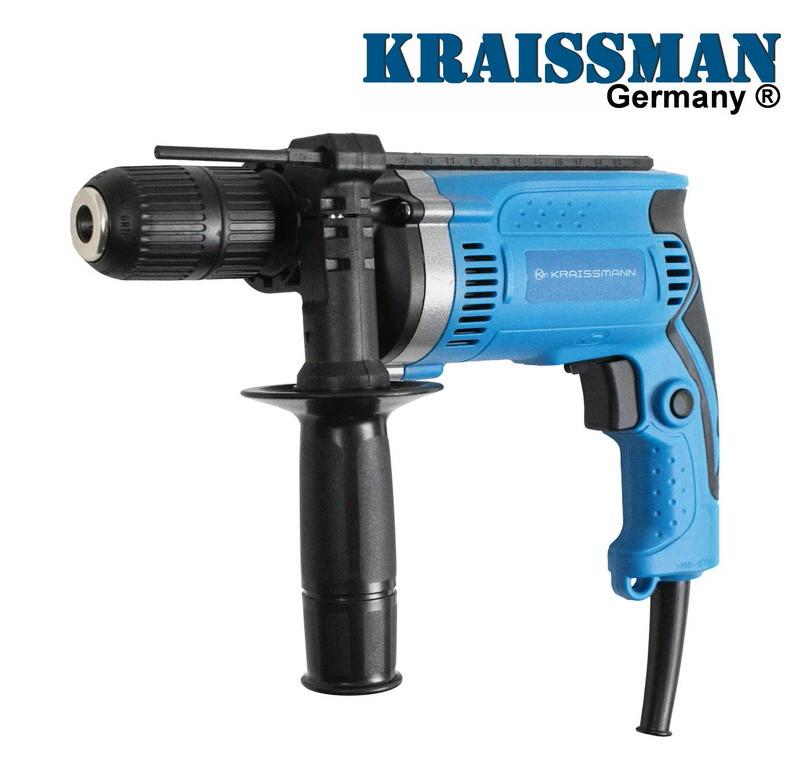 Дрель ударная Kraissmann 1100DBH13 / тип Makita (Быстрозажимной патрон)