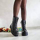 Ботинки женские Woodstock BONA MENTE de luxe из натуральной кожи с лаковым напылением, фото 5