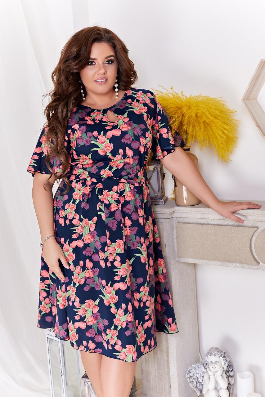Женские стильное коктейльные платья больших размеров