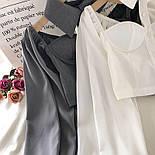 Жіноча блуза бюстьє з чокером - коміром і рукавами-ліхтариками (р. 42-44) 6813408, фото 2