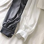 Жіноча блуза бюстьє з чокером - коміром і рукавами-ліхтариками (р. 42-44) 6813408, фото 3