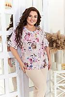 Брючный костюм женский Большого размера, Костюм брючный больших размеров,  Летний нарядный брючный костюм большого размера, фото 3