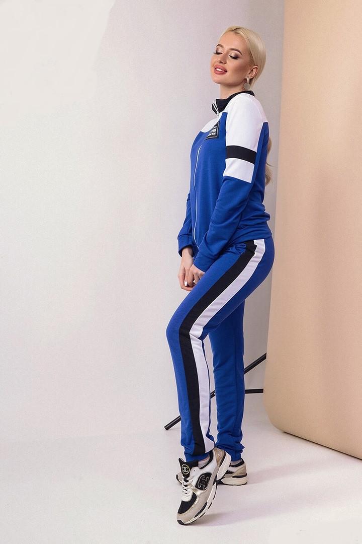 Спортивный демисезонный женский костюм двунитка, Женские спортивные костюмы без капюшона, Спортивный костюм женский двунитка