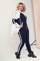Повседневный спортивный костюм женский. Женский повседневный костюм больших размеров. Молодежный костюм женский, фото 3