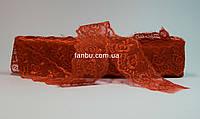 Кружево красное, ширина 4 см