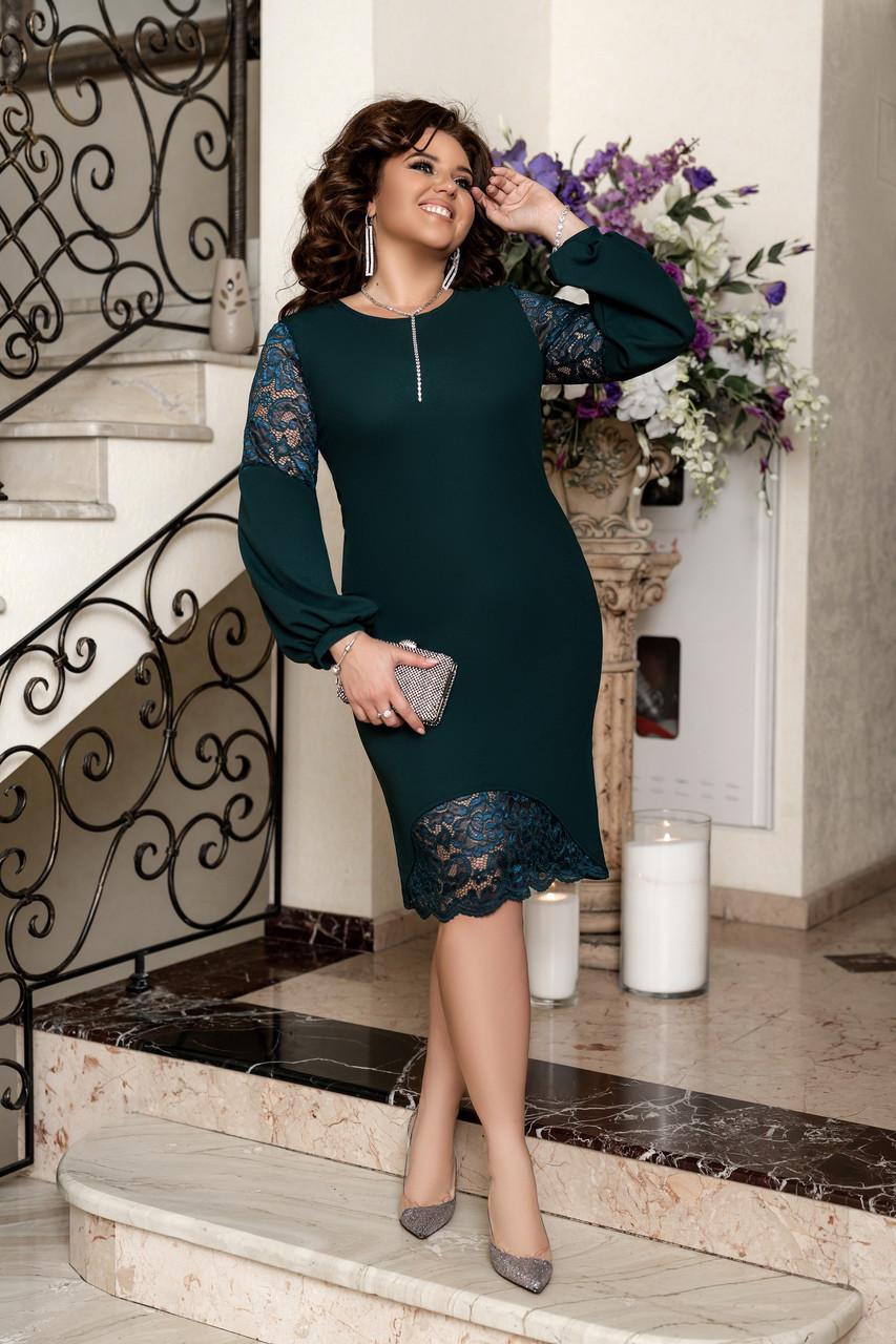Элегантное вечернее платье Бутылочный
