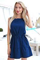 Платья летнее оборку по низу. Модное платье внизу с воланом., фото 2