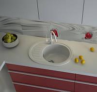 Белая гранитная мойка для кухни AVANTI 620
