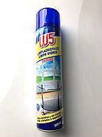 Пена для чистки стеклянных и зеркальных поверхностей W5 Foam Window & Glass Cleaner 600 мл