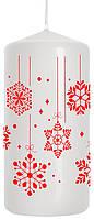 Свеча снежинка 50х100мм парафиновая цилиндрическая
