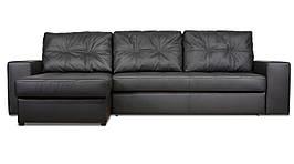 Кожаный модульный диван Калифорния с оттоманкой