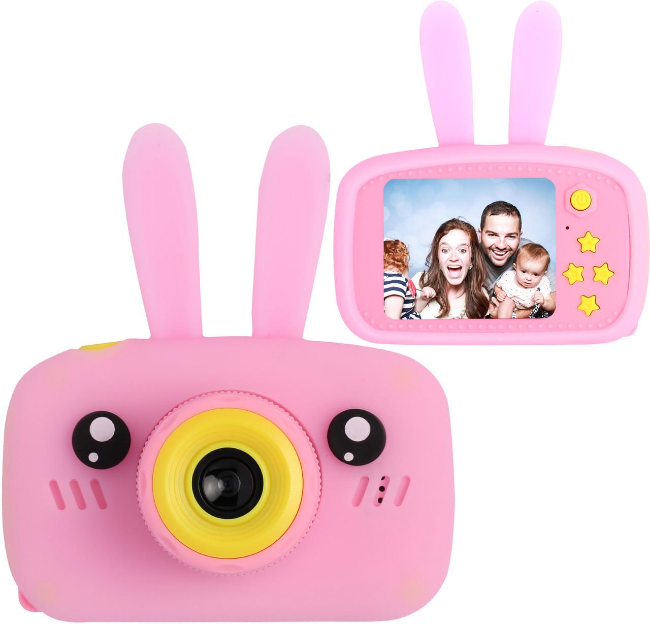 Цена актуальна только партнерам! Детский цифровой фотоаппарат с ушками Smart Kids Camera 3 Series Розовый