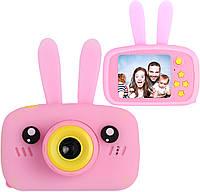 Цена актуальна только партнерам! Детский цифровой фотоаппарат с ушками Smart Kids Camera 3 Series Розовый, фото 1