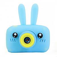 Цена актуальна только партнерам! Детский цифровой фотоаппарат с ушками Smart Kids Camera 3 Series Голубой, фото 1