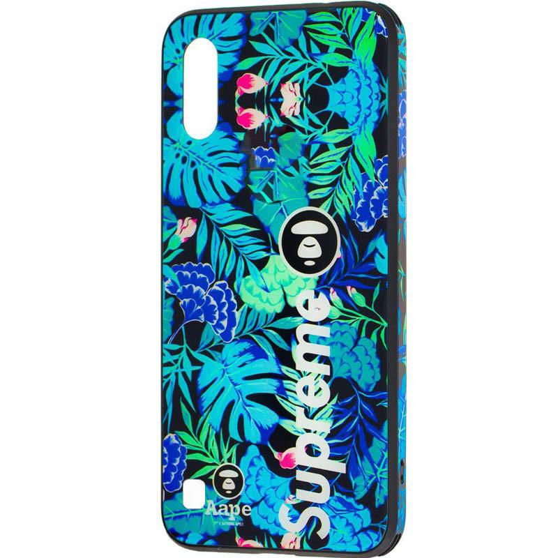 TPU+Glass чехол Cute Print для Samsung Galaxy A10 (A105F)