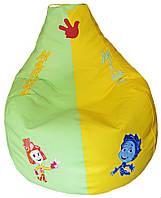 Бескаркасное детское кресло мешок груша детское Фиксики