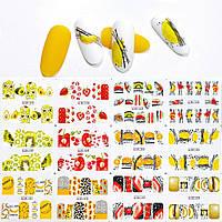 Слайдеры для ногтей, набор 12 шт