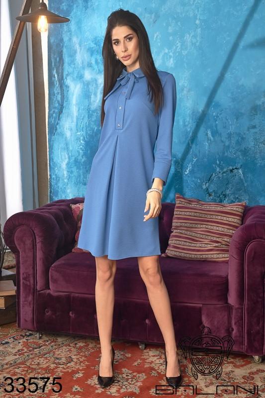 Платье женское свободное ворот бантик