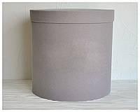 Бархатная круглая коробка d=31 h=30 см оптом, фото 1