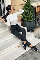 Джинсы черные женские, фото 2