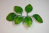 Искусственные листья розы № 1, на 1 розетке 6 листочков-(средние)., фото 1