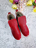 Слипоны ANKLE SLIP BONA MENTE de luxe из кожи с лаковым напылением, фото 2