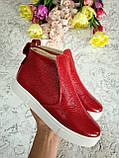 Слипоны ANKLE SLIP BONA MENTE de luxe из кожи с лаковым напылением, фото 3