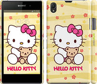"Чехол на Sony Xperia Z1 C6902 Hello kitty. Yellow ""681c-38"""
