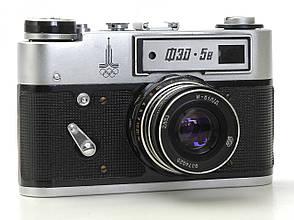 Б/У Пленочный фотоаппарат ФЭД 5В, индустар 61 Л/Д 2.8/55, в чехле, состояние 4, фото 2