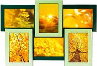 Мультирамка Весна на 6 фото,рамка для фото