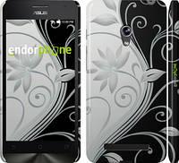 """Чехол на Asus Zenfone 5 Цветы на чёрно-белом фоне """"840c-81"""""""