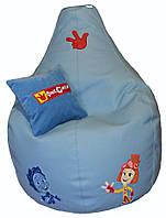 Кресло детское мешок груша пуф ФИКСИКИ