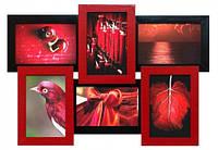 Мультирамка Красное и Черное на 6 фото,рамки для фотографий