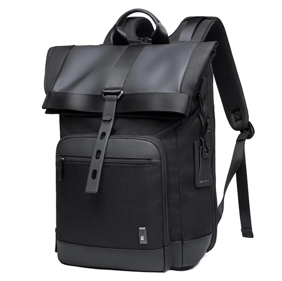 Рюкзак роллтоп Bange BG-G66 отделение для ноутбука планшета влагозащищенный черный 30 л