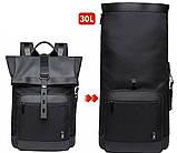 Рюкзак роллтоп Bange BG-G66 отделение для ноутбука планшета влагозащищенный черный 30 л, фото 5